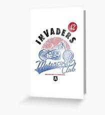Invaders Motorcycle Club South Dakota Greeting Card