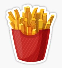 French Fries Graphic Sticker