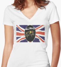 GOD SAVE THE BEES Women's Fitted V-Neck T-Shirt