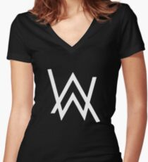 alan walker Women's Fitted V-Neck T-Shirt
