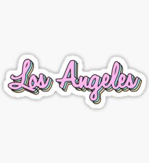 los angeles retro Sticker