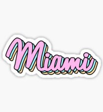 miami retro Sticker
