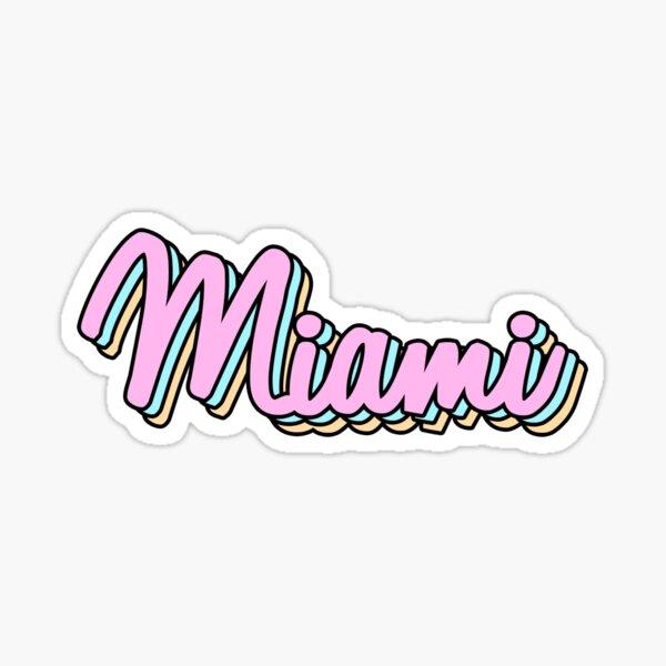 miami retro Sticker