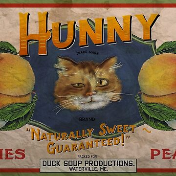 Hunny Peaches Vintage Label by DuckSoupDotMe