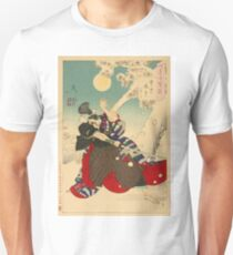 Dawn Moon and Tumbling Snow. Unisex T-Shirt