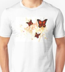 Watercolor Monarch Butterfly Unisex T-Shirt