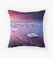 Sky Fire And Black Ice Throw Pillow
