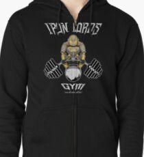 Iron Lords Gym (Black) Zipped Hoodie