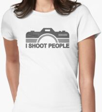 I Shoot People Photography Text Womens Fitted T-Shirt