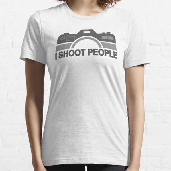 I Shoot People Photography Text Essential T-Shirt