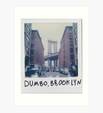 Polaroid Photo - DUMBO, Brooklyn - Zackattack Art Print