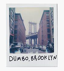 Polaroid Photo - DUMBO, Brooklyn - Zackattack Photographic Print