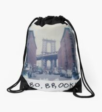 Polaroid Photo - DUMBO, Brooklyn - Zackattack Drawstring Bag