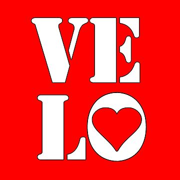 VELO / LOVE STICKER by colinwilson