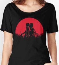 Kirigaya Kazuto Yuuki Red Moon Women's Relaxed Fit T-Shirt