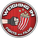 Weighing In: Fights and Films logo by Brett Gilbert
