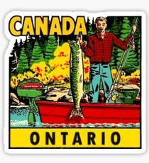 Ontario Fishing Vintage Travel Decal Sticker