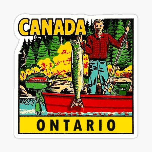 Ontario Fishing Vintage Travel Decal Sticker