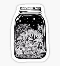 ocean in a jar Sticker