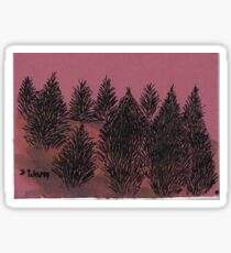 Amoung the pines Sticker
