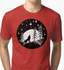 Wolf In The Woods Tri-blend T-Shirt