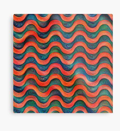 Frozen underwater liquid red waves #DeepDream #Art Metal Print