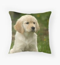 Golden Retriever! Puppy! Throw Pillow