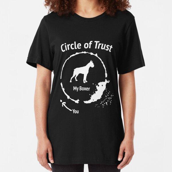 Funny Boxer shirt - Circle of Trust Slim Fit T-Shirt