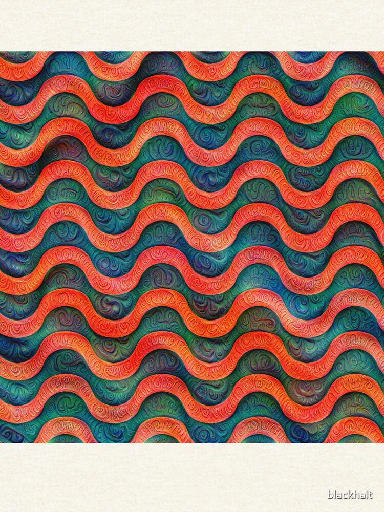 Frozen underwater liquid red waves #DeepDream #Art by blackhalt