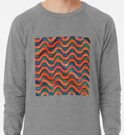 Frozen underwater liquid red waves #DeepDream #Art Lightweight Sweatshirt