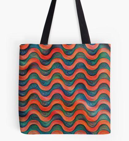Frozen underwater liquid red waves #DeepDream #Art Tote Bag