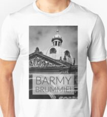 Barmy Brummie colloquial phrase over photograph of Birminghams Council House Unisex T-Shirt