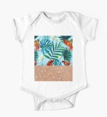 Aqua tropical breeze and rose gold glitter Kids Clothes