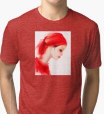 Fashion woman  portrait  Tri-blend T-Shirt
