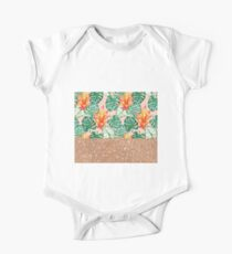 Peach tropical rose gold Kids Clothes
