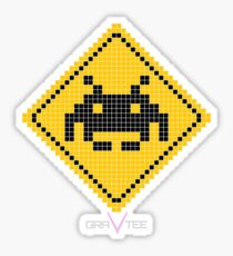 Space Invader Xing Sticker