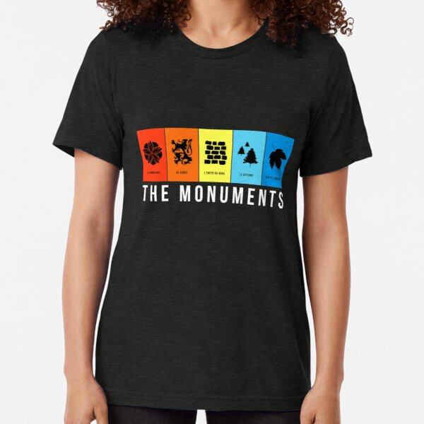 Monuments of Bike Tri-blend T-Shirt