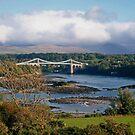Menai Bridge in Autumn by AnnDixon