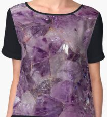Amethyst Crystals. Women's Chiffon Top