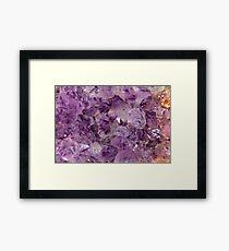 Amethyst Crystals. Framed Print