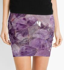 Amethyst Crystals. Mini Skirt