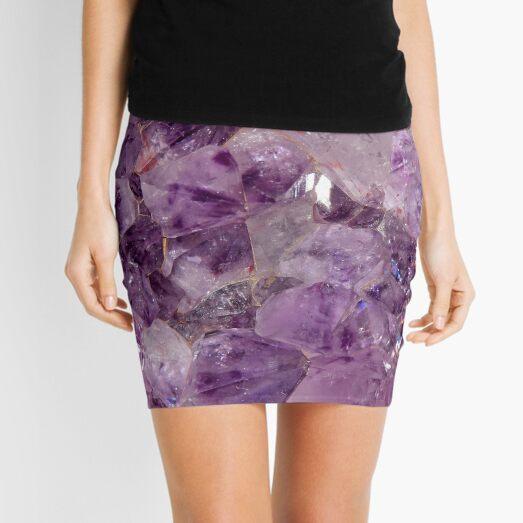 Amethyst Crystals. Mini Skirt