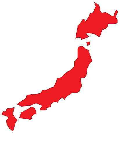 Japan map simple in RED
