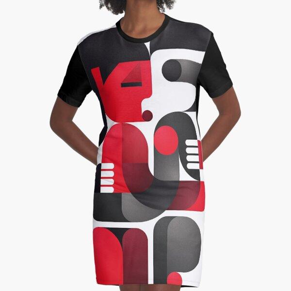 A kiss in Kiev Graphic T-Shirt Dress
