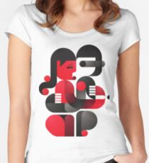A kiss in Kiev Women's Fitted Scoop T-Shirt