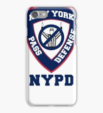 NY Giants Pass Defense iPhone Case/Skin