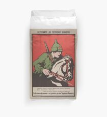 Soviet propaganda - Join the Red Cavalry Duvet Cover
