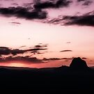 Glass House Mountains at Dusk by Tony Steinberg