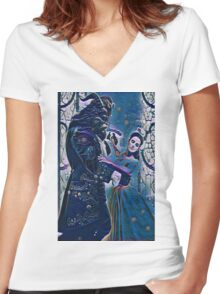 Beauty Finds Beast Women's Fitted V-Neck T-Shirt
