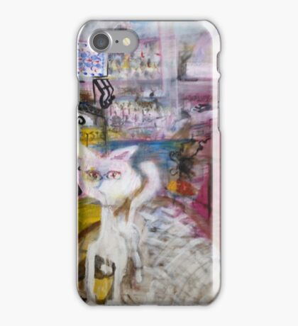 Red Dog Howling iPhone Case/Skin